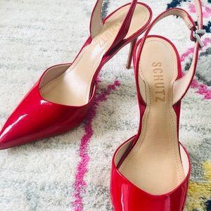 Schutz heels - bright red size US5.5 like new
